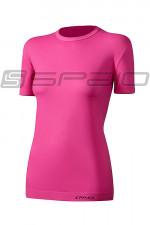 Spaio T-Shirt Relieve Damska W01 Krótki rękaw pink