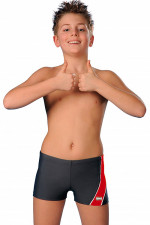 gWINNER Michaś kąpielówki szaro-czerwony