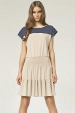Nife S45 sukienka beż