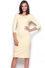 Figl 301 sukienka żółty