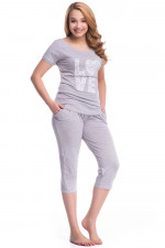 Dobranocka PW.7031 piżama grey melange