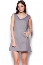 Figl 349 sukienka szary