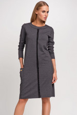 Makadamia M233 sukienka grafitowy melanż