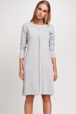 Makadamia M233 sukienka szary melanż