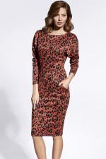 Enny 200017 sukienka rudy