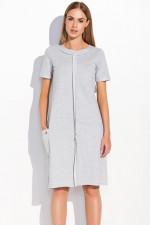Makadamia M288 sukienka szary melanż