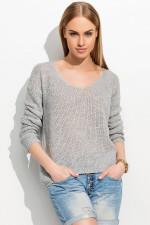 Makadamia S37 Sweter szary