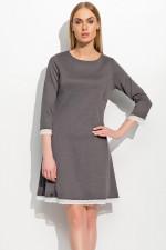 Makadamia M303 sukienka grafitowy melanż