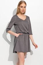 Makadamia M309 sukienka grafitowy melanż