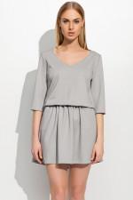 Makadamia M309 sukienka szary melanż
