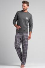 Rossli SAM-PY 046 piżama ciemny szary