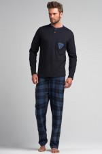 Rossli SAM-PY 052 piżama granat kratka