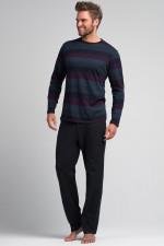 Rossli SAM-PY 053 piżama grafit/fiolet