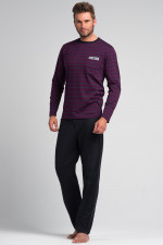 Rossli SAM-PY 054 piżama fiolet/szary