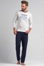 Rossli SAM-PY 062 piżama ecru/grafit
