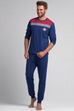 Rossli SAM-PY 071 piżama granat/czerwony