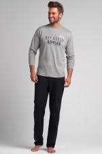 Rossli SAM-PY 074 piżama szary/grafit