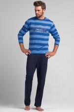 Rossli SAM-PY 076 piżama niebieski/błękit