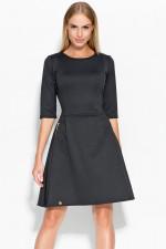 Makadamia M316 sukienka czarny