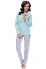 Dn-nightwear PM.9101 piżama mint grey