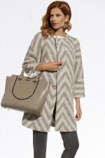 Ennywear 220031 płaszcz różowo-szary