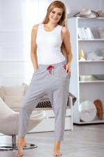 Babella 3063 spodnie szaro-czerwony