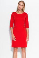 Makadamia M325 sukienka czerwony