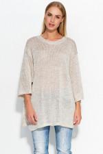 Makadamia S40 sweter beżowy melanż