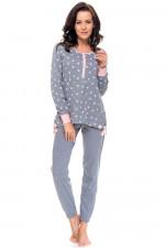 Dn-nightwear PM.9103 piżama dark grey-p