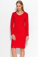 Makadamia M323 sukienka czerwony