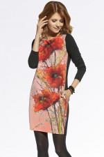 Ennywear 220045 sukienka czarno-różowy