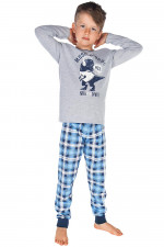 Italian Fashion Alwin Dz. dł. r. dł. sp. piżama melanż