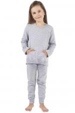 Italian Fashion Awi Dz. dł. r. dł. sp. piżama melanż