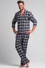 Rossli SAM-PY 043 piżama granatowo-biały