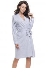 Dn-nightwear SWB.9105 szlafrok grey melange