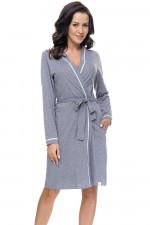 Dn-nightwear SWB.9105 szlafrok dark grey