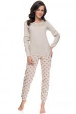 Dn-nightwear PM.9089 piżama beige melange