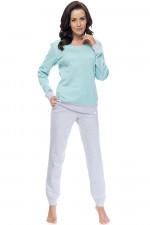 Dn-nightwear PM.9102 piżama mint grey