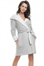 Dn-nightwear SWD.9122 szlafrok grey melange