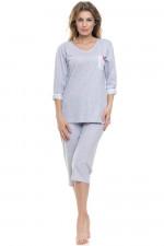 Dn-nightwear PB.9139 piżama grey melange