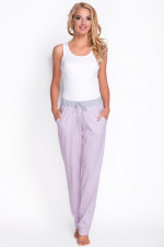 Babella 3080-2 spodnie szary-róż