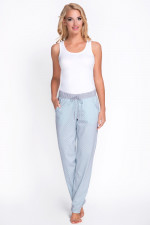 Babella 3080-1 spodnie szary-turkus