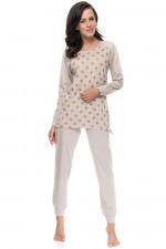 Dn-nightwear PM.9078 piżama beige melange