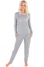 Italian Fashion Ambra dł.r. dł.sp. piżama melanż