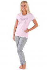 Italian Fashion Ambra kr.r. dł.sp. piżama róż