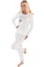 Italian Fashion Bona dł.r. dł.sp. piżama ecru