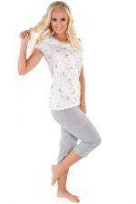 Italian Fashion Bona kr.r. sp.3/4 piżama ecru/melanż