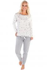 Italian Fashion Gama dł.r. dł.sp. piżama ecru/melanż