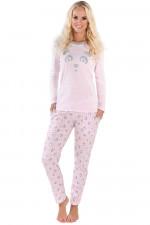 Italian Fashion Panda dł.r. dł.sp. piżama różowy