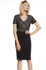 Ennywear 230023 sukienka czarny-beż